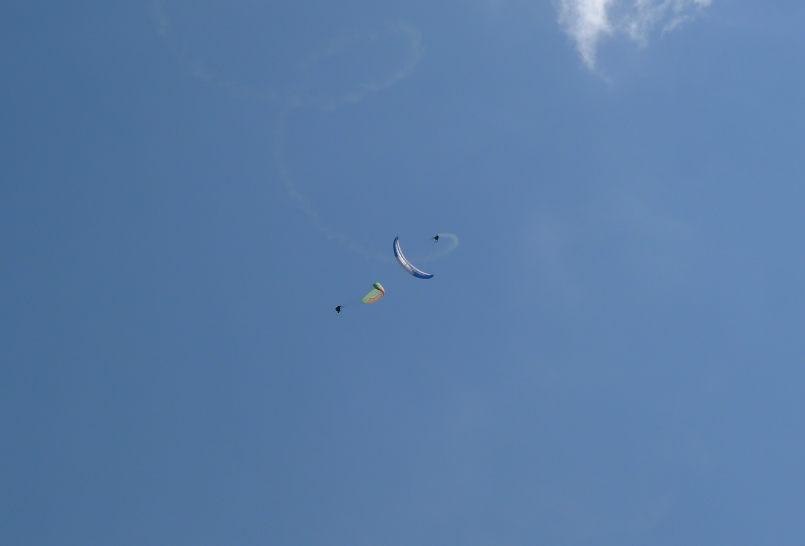 show accrobatique a Tignes