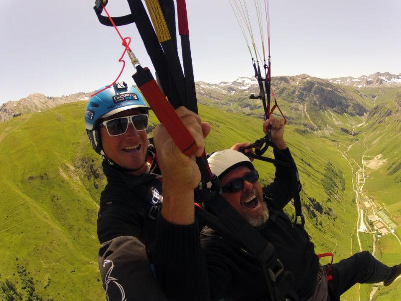 Trés,trés bonne conditions pour le parapente à Val d'Isére. 2