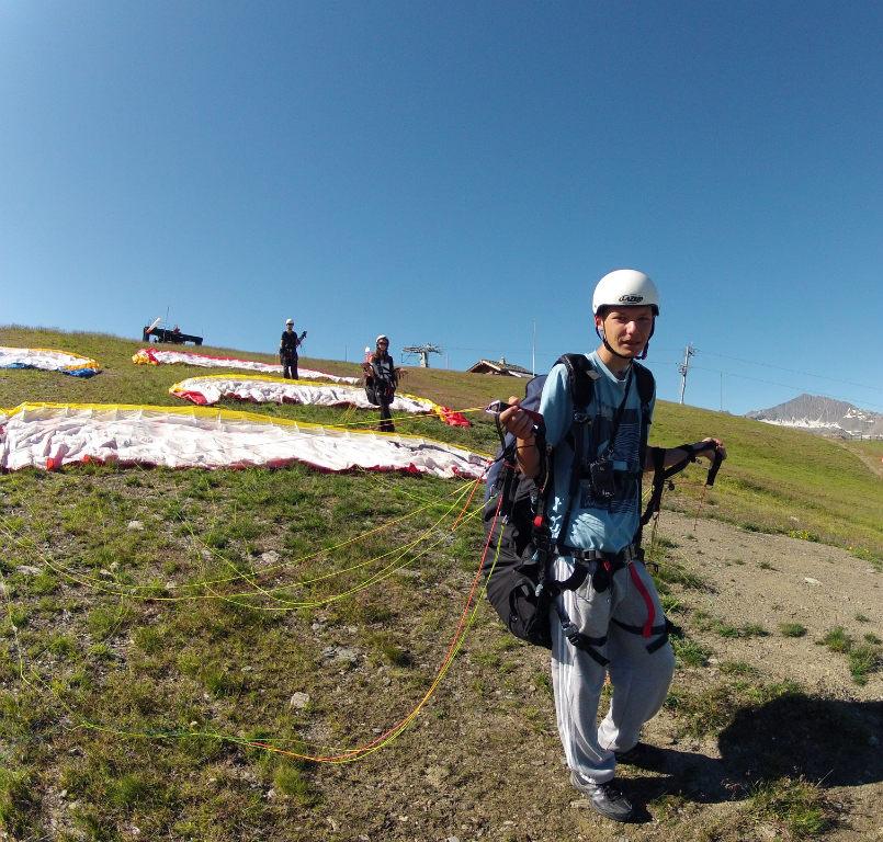 Trés,trés bonne conditions pour le parapente à Val d'Isére. 3