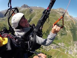 Superbes souvenirs dans les airs, à Val d'Isère. 1