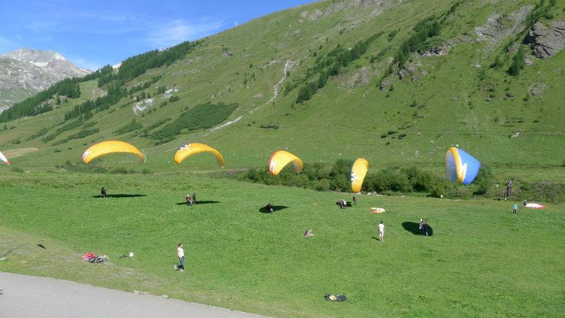 Trés,trés bonne conditions pour le parapente à Val d'Isére. 4