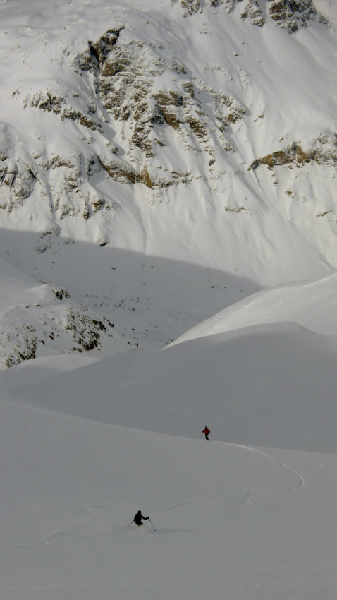 Powder snow and Off Piste skiing in Val d'Isère. 9