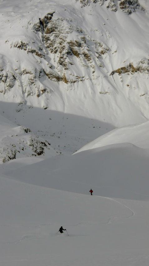 Neige Fraiche et ski Hors Piste à Val d'Isère. 9
