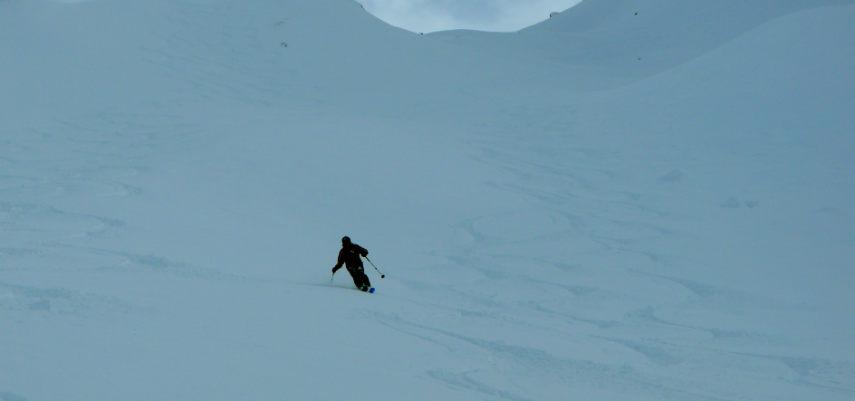 Neige Fraiche et ski Hors Piste à Val d'Isère. 12
