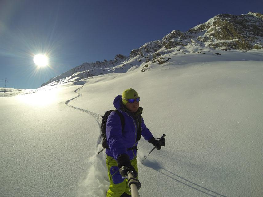 Fresh snow on the Pissaillas glacier. 8