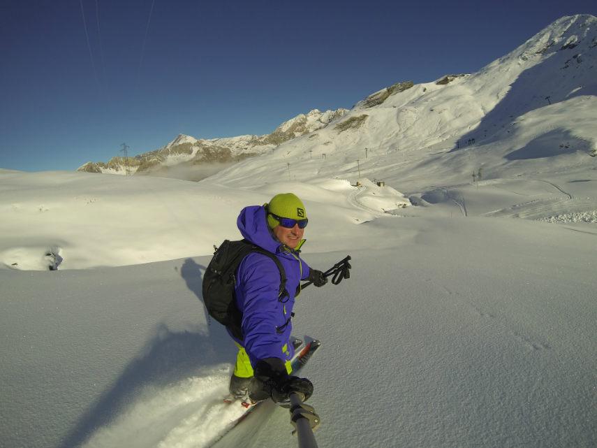 Fresh snow on the Pissaillas glacier. 6