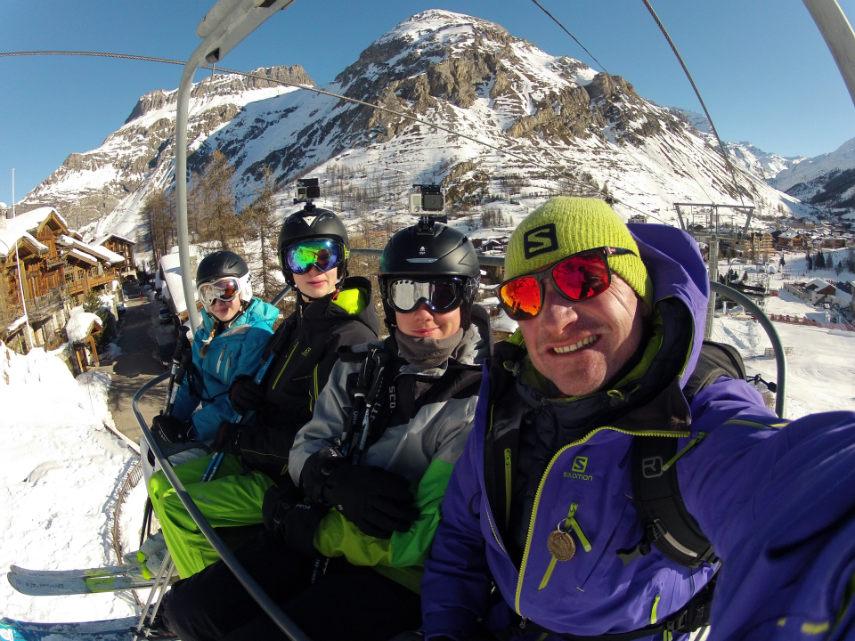 Dark Vador is at Val d'Isère. 1
