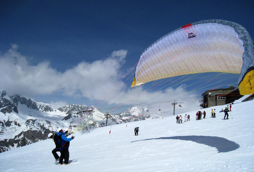 Parapente à ski Val d'Isère