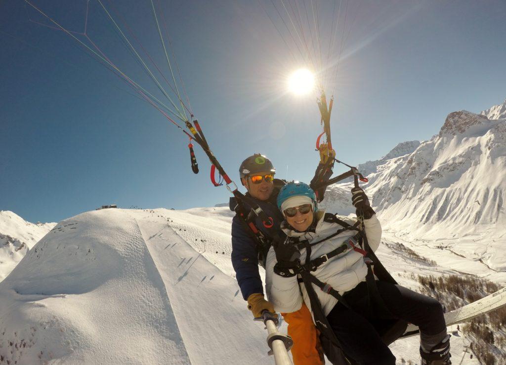 ski et parapente à val d'isère