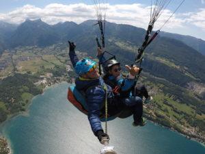 Annecy 2020, parapente au Col de la Forclaz 1